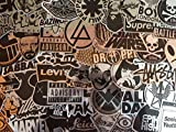 Lot de stickers métal, métallisée, brillants, argent, argenté