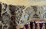 ZHC Nappe jaune Vienne Hôtels de Style Européen à Vienne Restaurant Chenille ronde Nappe Art Nappe Art de la Table à Thé Nappe-A Diamètre240Cm (94Inch)...