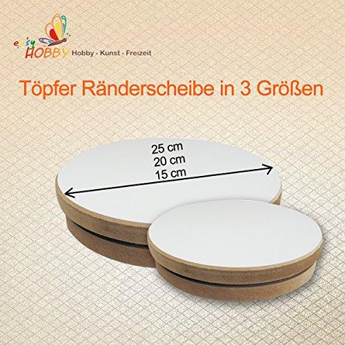 Töpfer Ränderscheibe in 3 Größen 15/20/25 cm (Ø 15 cm)