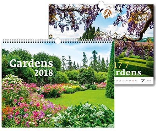 C125-17-18 Kalpa Wall Calendar 2018 Gardens 45 x 31.5 cm + Buy 1 Get 1 free Calendar C125-17