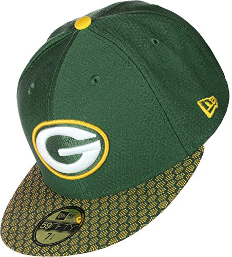 New Era 59Fifty Cap - NFL SIDELINE 2017 Green Bay Packers ,6 7/8 - 55cm - New Onfield Packers Era