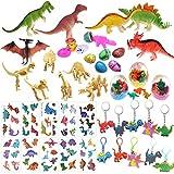 Mattelsen 60 Pcs Granel Juguetes de Dinosaurios Surtidos Aspecto Realista - para Niños Niñas Dinosaurios de Cumpleaños Piñata Rellenos y Bolsas Regalo de Fiesta