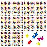 Oblique-Unique® 880 x Sternen Sticker Aufkleber I Bunt I Glänzende Oberfläche I Kinder Geburtstag Party Scrapbooking