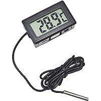 Mein HERZ Sensore Temperatura LCD Termometro Temperatura Frigorifero Termometro per Acquario Display Digitale Termometro Forte Intervallo di Temperatura Anti Interferenza  50 110 deg C  Nero
