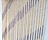 Perlenvorhang, Gardine, Jalousie, Fliegengitter, Trennwand aus Bambus-Holz. Gestreift