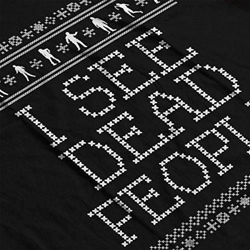 I See Dead People Zombie Christmas Knit Men's Vest Black