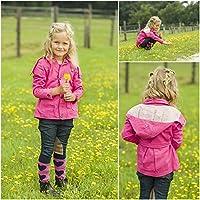 HKM–Riders de caballo infantil de exterior transpirable Show Fancy Winter Verano Chaqueta, color Rosa - rosa, tamaño 6-7 años