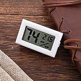 New Mini Digital LCD Innen Temperatur Luftfeuchtigkeit Meter Thermometer Hygrometer, weiß