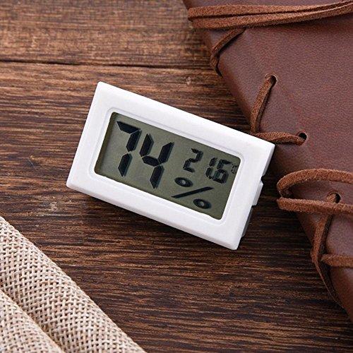 New Mini Digital LCD Innen Temperatur Luftfeuchtigkeit Meter Thermometer Hygrometer, weiß (Luftfeuchtigkeit Digital)