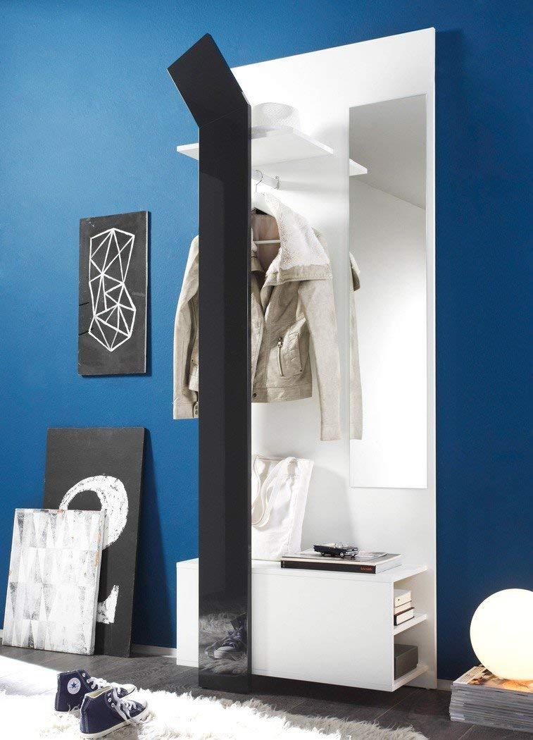 expendio Smart Garderobe, MDF/Spannplatte, weiß, 33 x 75 x 200 cm 1
