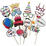 #5: Party Propz Happy Birthday Photobooth (Set of 17)