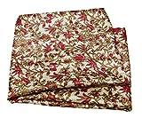 PEEGLI Indische Vintage Dekorative Blumen Bedruckte Sari
