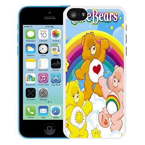 Image of Care Bear cartoon cover case for Apple iPhone 5C - T761 - Tenderheart Funshine - White