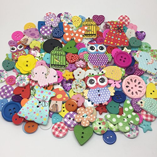 roseys-craft-shopsr-exclusive-random-button-mix-wooden-and-resin-embellishments