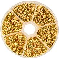 Bacabella 21357 Biegeringe offen 1,5mmx8mm Gold als Verbinder zwischen Zwei Schmuckteilen 10 St/ück