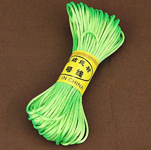 Halskettenschnur, gewachste Baumwolle, für Schmuckherstellung, 5m, Schwarz 2mm.