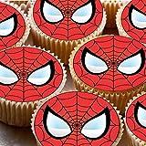 24topper per torta 4cm in pasta di zucchero cupcake immagini–Spiderman Face Mask Spider Man