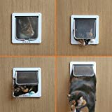 Sneff Trade Haustiertüre Haustierklappe Freilauftür Hundeklappe Katzenklappe Hundetür Katzentür Katzen-Welpen-tür Hundeklappe Katzenklappe Türklappe Pet Cat Dog Flap Door - 7