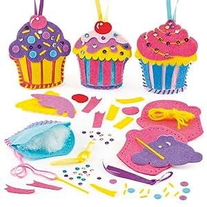 Lot de 3 Kits Couture Cupcake en Feutrine - Décoration créative enfants pour tous les petits gourmands