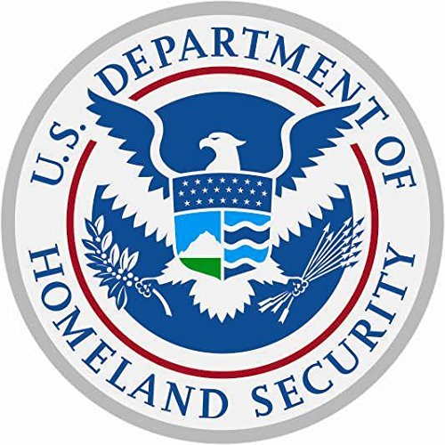 U24 Aufkleber Homeland Security Seal Siegel Autoaufkleber Sticker Konturschnitt Home-security-sticker