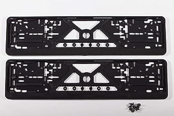 Kennzeichenhalter Auto (2 Stück) Nummernschildhalter Schwarz (EU Standard Grösse 52cm)