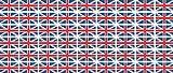 Mini Aufkleber Set - Pack glatt - 20x12mm - selbstklebender Sticker - United Kingdom - Großbritannien - Flagge / Banner / Standarte fürs Auto, Büro, zu Hause und die Schule - 54 Stück