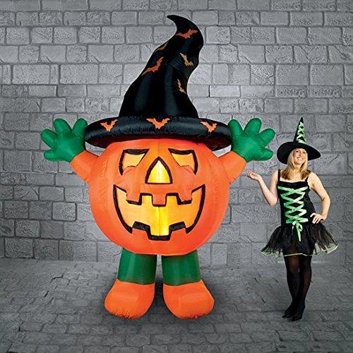 3M gigante de pie calabaza con sombrero de brujas Halloween hinchable pantalla