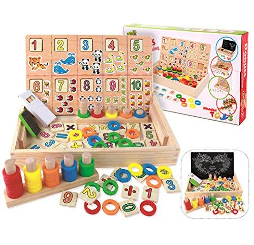 Montessori spielzeug, BBLIKE Abakus Rechnen und Spielen mit Zahlen Lernen.Rechenschieber Mathe Holz Zahlen Mathematik Spielzeug Ausbildung für Kinder (Mathe)