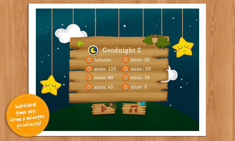 gute nacht 2 schlaflieder f r kinder apps f r android. Black Bedroom Furniture Sets. Home Design Ideas