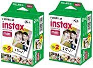 40 sheets Fujifilm Instax mini 9 films white Edge 3 Inch for Instant Camera 7 8 25 50s 70 90 sp-1 sp-2 Photo paper(not includ