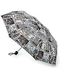 Fulton Parapluie Compact Pliant Old News Stowaway