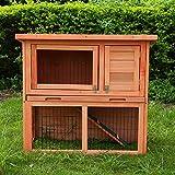 2-Tier Rabbit Hutch Guinea Pig Hutch House Cage...