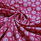 Stoff Baumwolle Elastan Single Jersey pink Prilblume Blume