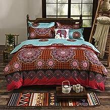 QHGstore 4pcs / set edredones románticos Bohemia del lecho cubre los sistemas textiles #12 150*200cm