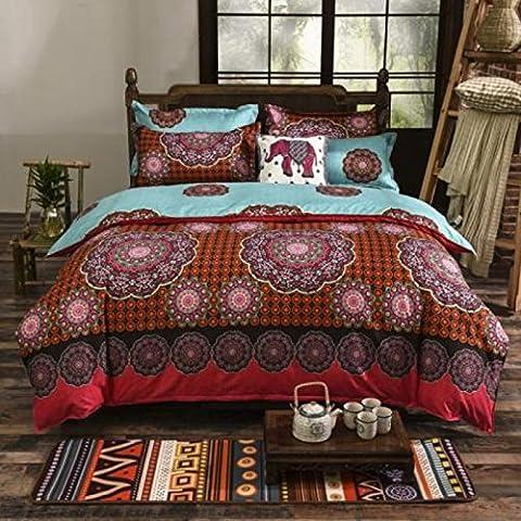 QHGstore 4pcs / set edredones románticos Bohemia del lecho cubre los sistemas textiles #12