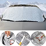 Inlink Auto Scheibenabdeckung Eisschutzfolien Frostabdeckung Frontscheibe Abdeckung Winterschutz Silver für SUV
