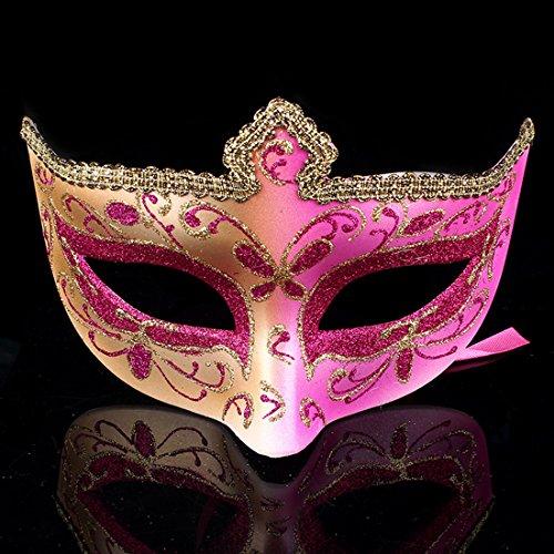 chenyu Masquerade Masken Augenmaske Party Face venezianische Maske, Masken Party Maske Geheimnisvolle Maske für Weihnachten Halloween/Party/Ball Ball/Mardi Gras/Hochzeit Karneval Make up Rose
