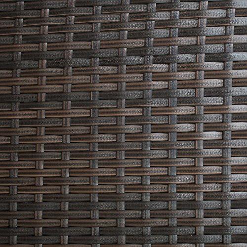 POLY RATTAN Lounge Gartenset Sofa Garnitur Polyrattan Gartenmöbel (Braun) - 6