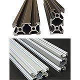 Global Automate 2040 V-Slot Aluminium Extrusion Openbuilds Linear Profile, 3D Printers (Black, 500mm)