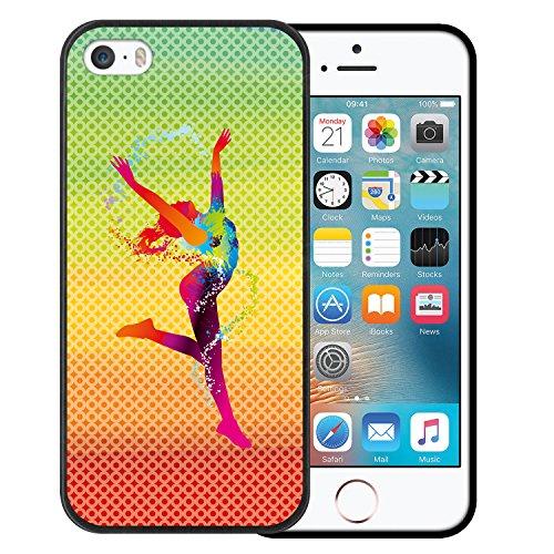 iPhone SE iPhone 5 5S Hülle, WoowCase Handyhülle Silikon für [ iPhone SE iPhone 5 5S ] Fußball, der den Wand bricht Handytasche Handy Cover Case Schutzhülle Flexible TPU - Schwarz Housse Gel iPhone SE iPhone 5 5S Schwarze D0507