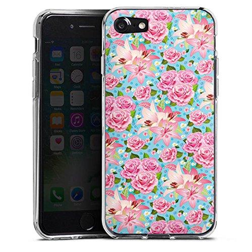 Apple iPhone X Silikon Hülle Case Schutzhülle Rosen Frühling Flower Silikon Case transparent