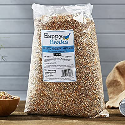 Happy Beaks No Waste Wild Bird Seed Mix Premium Grade No Husk Hull & Grow Bird Food from Happy Beaks