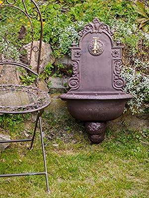 Waschbecken Wandbrunnen Garten Eisen Gründerzeit antik Stil Brunnen Blume von aubaho - Du und dein Garten