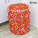 HOMIZE™ Multipurpose Foldable & Collapsible 43-Litre Pop-Up Laundry Bag Basket with Zippered Lid and Carry Handle, Random Designs