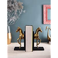 SF Designer International Aluminium Gold Finish Horse Bookend and Office/DDECORative Item