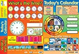 Educational Products 2-in-1-What 's The Time & Heute 's Kalender – Early years Poster/Wandchart, mit Perforationen – 60 cm x 40 cm