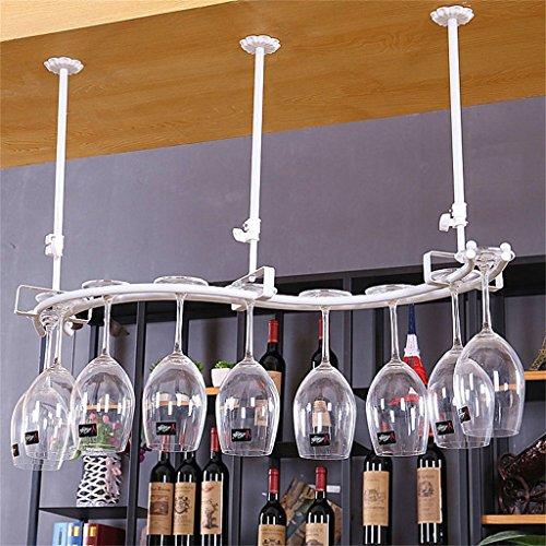 Etagère à bouteille Casier à Vin Loft Étagère Murale En Métal De Fer Plafond Rangement Casiers à Vin Suspendus Bouteille De Vin et Lunettes Titulaire Cadre Vin Verre Titulaire Gobelet Rack
