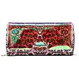 Desigual Mone_kaleidoskope_Maria, Travel Accessory- Bi-Fold Wallet para Mujer, Verde (Kiwi), 3x9.5x20.2 cm (B x H x T)