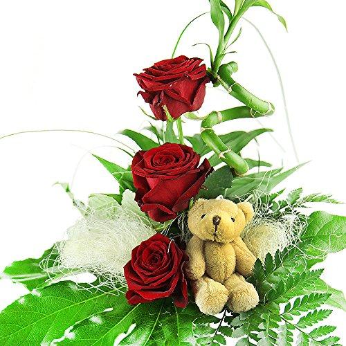 Blumenstrauß Geburtstag – Glücksbambus und Rosen