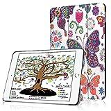 HBorna Hülle für iPad 9.7 Zoll 2018 2017, Smart Cover Case mit [Auto Schlaf/Wach] Dünn Superleicht Schutzhülle Hülle Tasche Standfunktion für New Apple iPad 9,7 2018/2017, Schmetterlinge